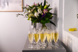 Prosecco at the Healthy Business Hub Christmas event 2018
