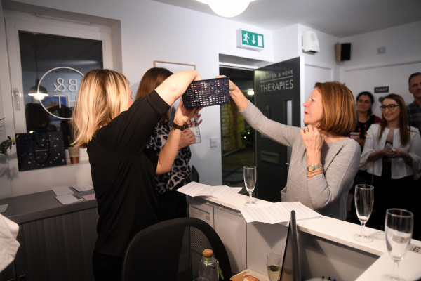Raffle draw at the Healthy Business Hub Christmas event 2018