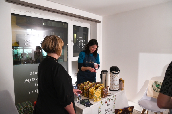 Pukka Herbs at the Healthy Business Hub Christmas event 2018